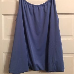 Jessica London periwinkle bubble bottom camisole